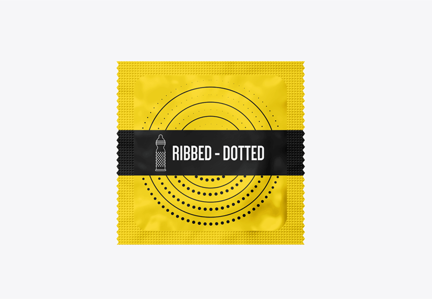 Bao Cao Su Fiesta Ribbed Dotted - Fiesta Ribbed Dotted Condom - Ribbed Dotted (3 in 1)