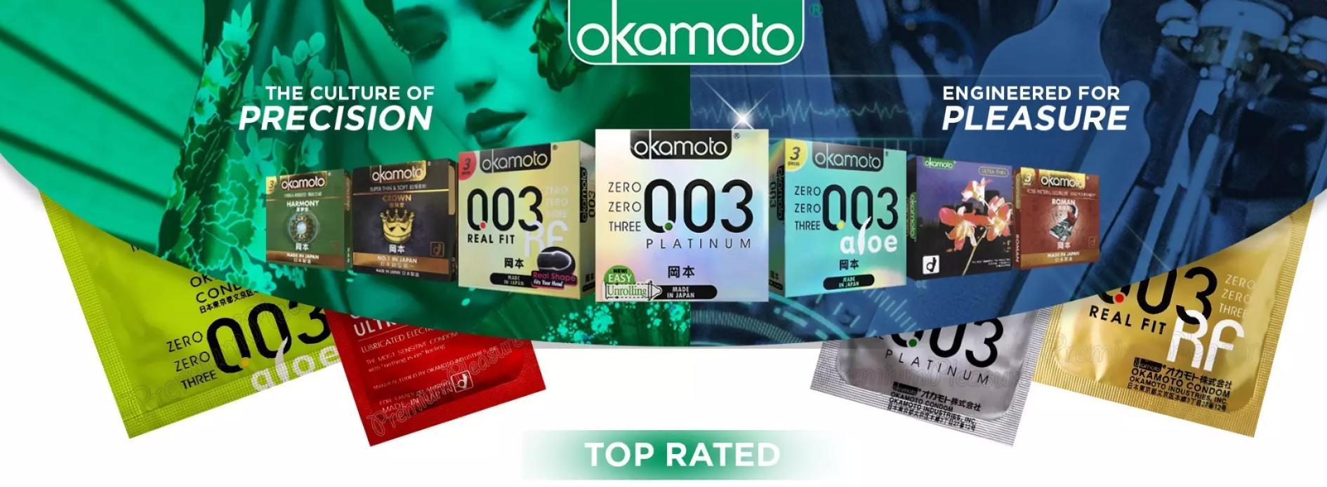 Okamoto - thương hiệu bao cao su bán chạy số 1 Nhật Bản