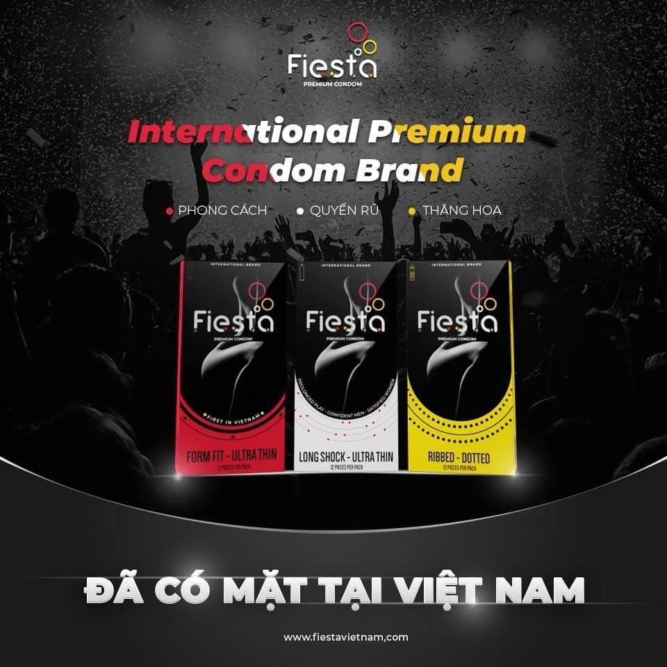 """""""Bộ 3 quyền lực"""" của thương hiệu bao cao su Fiesta® chính thức có mặt tại Việt Nam từ ngày 16/7, hứa hẹn mang đến nhiều trải nghiệm thú vị, độc đáo."""