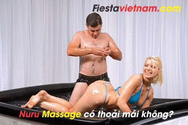 Nuru massage có thoải mái không?