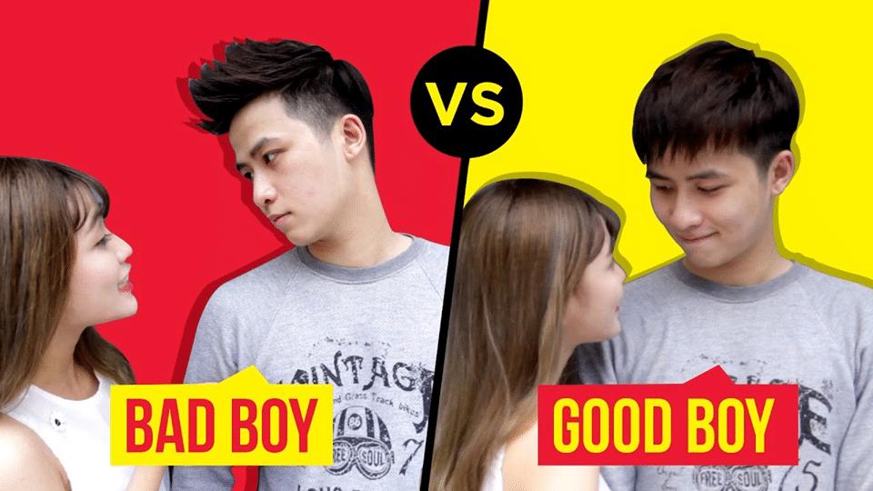 Sự khác nhau giữa bad boy vs goog boy