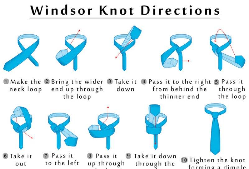 Cách thắt cà vạt kiểu Full Windsor