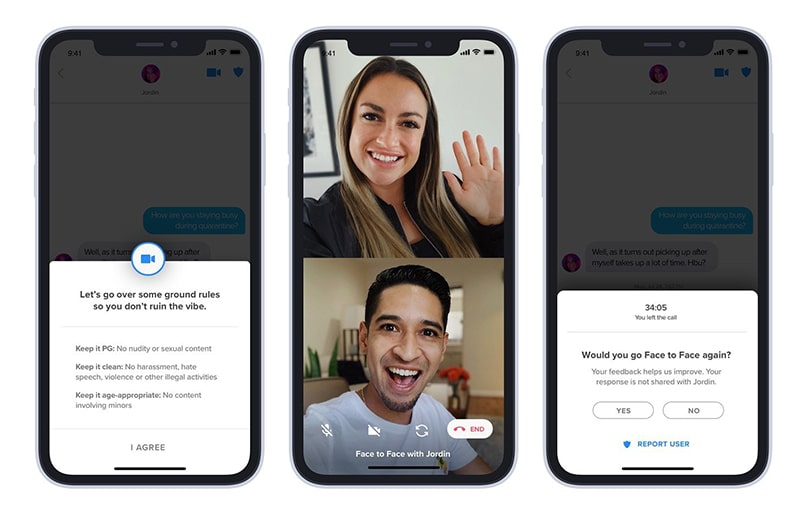Tính năng gọi video trực tuyến Tinder Face to Face